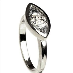 House of Harlow Silver & Crystal Statement Ring